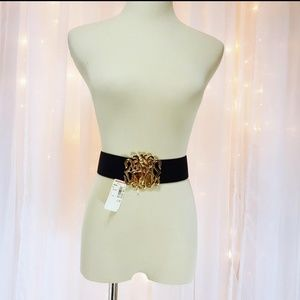 Vintage Stretch Belt w/Golden Filigree Buckle- NOS